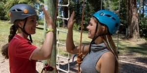 Rope Course High Five at Camp Toolangi